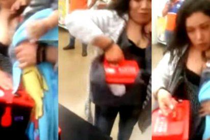 La mamá que usa a su bebé para robar baterías de coche