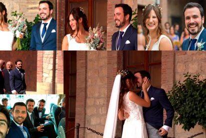 El sectario Alberto Garzón se casa con Anna Ruiz por todo lo alto