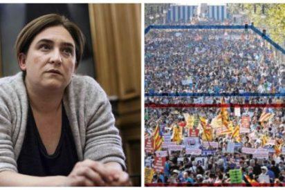 La tensa manifestación de Barcelona