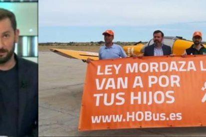 """Un periodista de Antena3 la lía parda al asegurar que """"enviaría dos cazas para derribar"""" la avioneta de 'Hazte Oir'"""