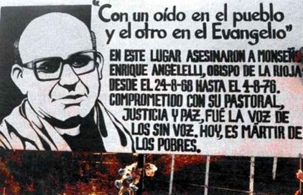 Homenajean al obispo Angelelli a 41 años de su muerte