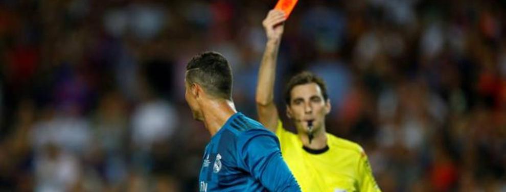 El ?recadito? de Cristiano Ronaldo al árbitro que lo expulsó en el Clásico