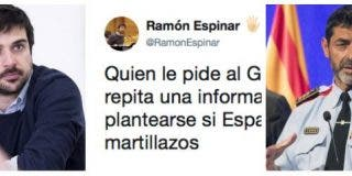 Lluvia de 'zascas' al paleto de Ramón Espinar por defender las ruedas de prensa en catalán