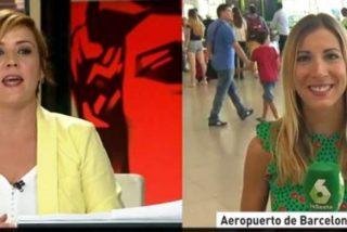 El mensaje de Cristina Pardo al hincha madridista que interrumpió el directo desde el Prat