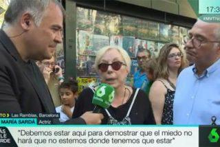 El desgarrador mensaje de Rosa María Sardà en un directo de Ferreras desde las Ramblas de Barcelona