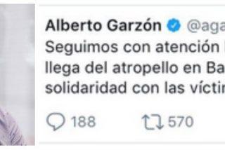 """Alberto Garzón llama """"atropello"""" a la carnicería islamista de Barcelona"""
