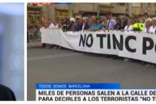 La TVE de Gundín se acojona ante los separatistas: maquilla los pitos y oculta las pancartas contra España