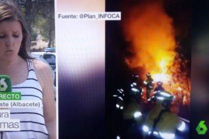 El 'desafortunado' apellido de una reportera de La Sexta que cubría un incendio