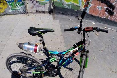 """[VÍDEO] ¿Qué pasa si agregas una potente """"turbina de avión"""" a una triste bicicleta?"""