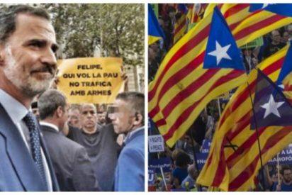Ratonera separatista al rey Felipe VI y a Rajoy en Barcelona
