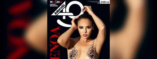 Chenoa se desnuda en 'Interviú' para celebrar el 40 cumpleaños de la revista