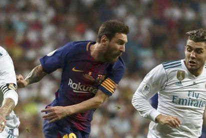 Messi felicitó a un jugador del Real Madrid al final del partido