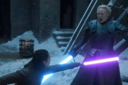 [VÍDEO] Esta pelea de Arya Stark y Brienne de Tarth de Juego de Tronos al estilo 'Star Wars' se vuelve viral