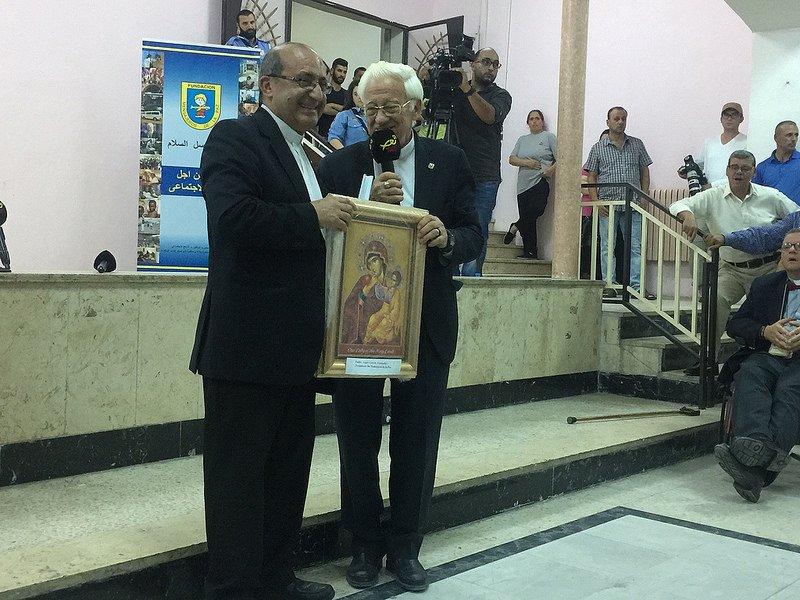 Visita de solidaridad del Padre Ángel a Jordania