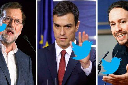 ¡Pillados!: Rajoy, Sánchez e Iglesias tienen un 30% de falsos seguidores en Twitter