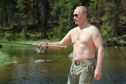 [VÍDEO] Putin se fue de vacaciones y sus fans enloquecen al verlo pescar