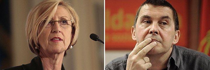 """Rosa Díez aniquila al """"sinvergüenza y miserable"""" Otegi por su penoso mensaje de apoyo a las víctimas de Barcelona"""