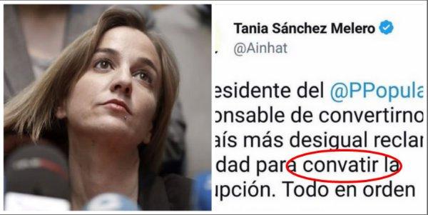 El PP cruje a Podemos por las faltas de ortografía de Tania Sánchez
