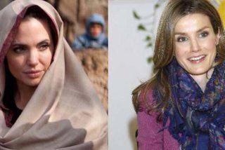 La Reina Letizia y Angelina Jolie 'agarradas' por el cuello en China