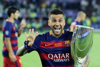 Dani Alves, con el Barça.