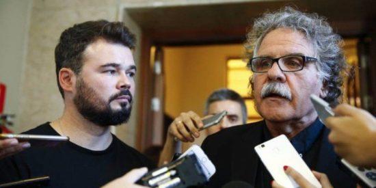 Los independentistas Tardà y Rufián optan por seguir en el Congreso cobrando sus 8.000 euros