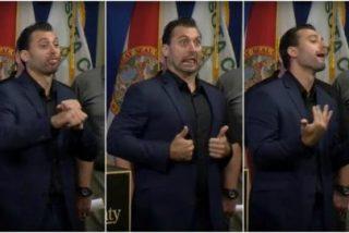 Lo único bueno del huracán Irma fue ver al intérprete del lenguaje de signos