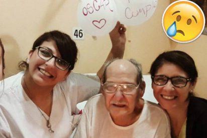 Este abuelito fingió estar grave para ir al hospital y no pasar solo su cumpleaños