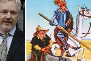 """Este es el caso que hay que hacerle a Assange cuando habla de Cataluña: llama """"Pancho Sánchez"""" a Sancho Panza"""
