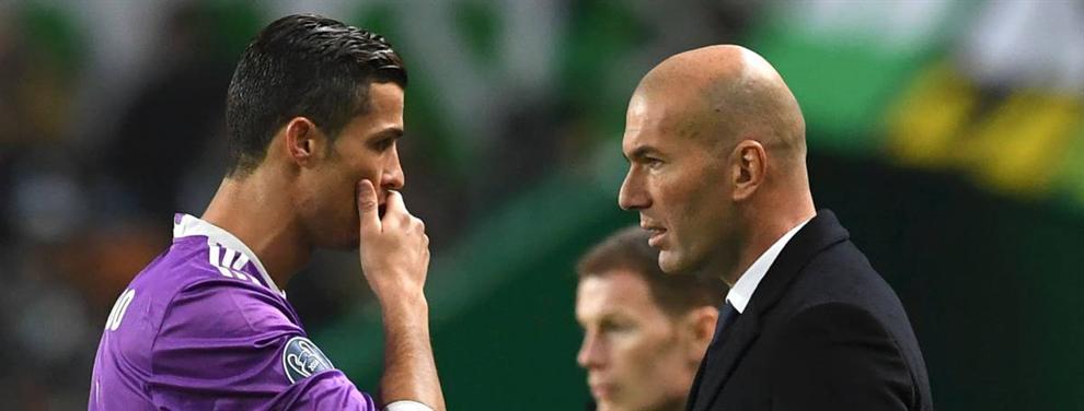 Cristiano Ronaldo corta la cabeza de un crack en un cara a cara con Zidane