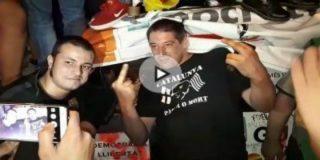 Así asaltan los rabiosos independentistas el cuartel de la Guardia Civil en Manresa