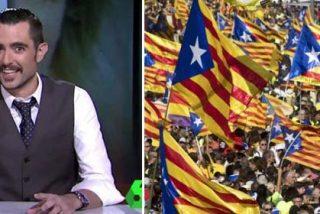El listillo de Dani Mateo se lleva un escarnio de órdago por incendiar aún más con su torpeza la situación política en Cataluña