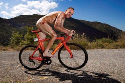 El ciclista Chris Froome se queda en cueros