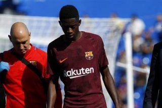La lesión de Ousmane Dembélé le dejará unos cuatro meses fuera del campo de fútbol