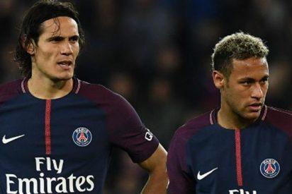 El gesto de Neymar que confirma su pelea con Edison Cavani