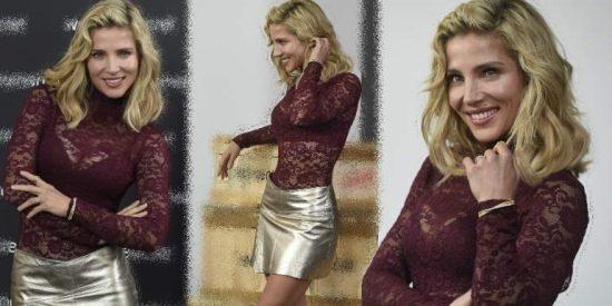Elsa Pataky estupenda con su nuevo look de transparencias, lencería y minifalda