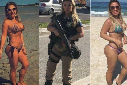 La sexy policía brasileña que arrasa en las redes