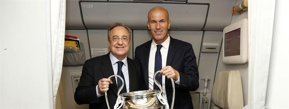 Florentino Pérez habla maravillas a Zidane de un crack del Barça (y no te imaginas quién es)