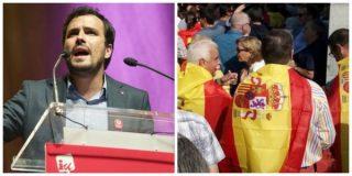 laSexta y Garzón llaman 'nazis' a los que portan una bandera española y no votan a Podemos