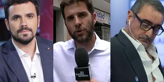 Ultrajantes exabruptos de los deslenguados Alberto Garzón y 'Gonzo' (El Intermedio) contra el posible fichaje de Herrera por TVE