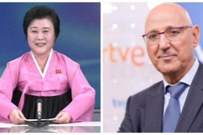 En la TVE de Gundín ya solo falta la presentadora norcoreana para informar sobre Cataluña