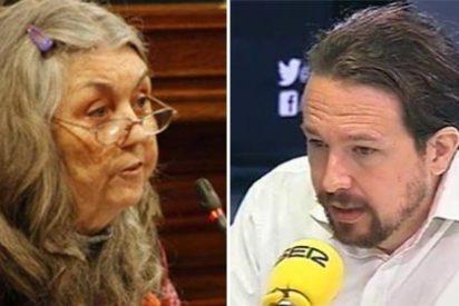 Hasta Iglesias tira de las orejas a la enajenada que quitó las banderas de España del Parlament