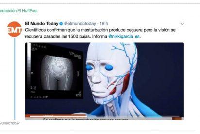 La ONCE replica con humor al tuit de 'El Mundo Today' diciendo que hacerse pajas te deja ciego