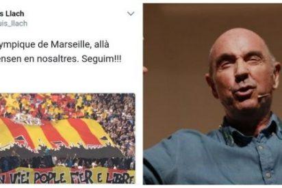 Fríen a zascas a Lluís Llach por confundir la bandera de Provenza con la de Cataluña
