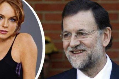 A Lindsay Lohan le va Mariano Rajoy... en redes sociales