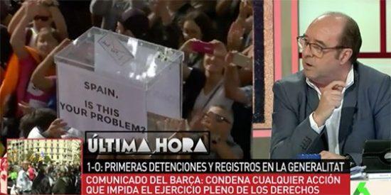 Jesús Maraña llama a la resistencia civil frente a las detenciones en Cataluña importándole un carajo el Estado de derecho