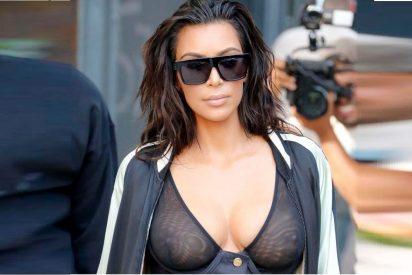 El paseo más caliente sin pantalones por Nueva York de Kim Kardashian