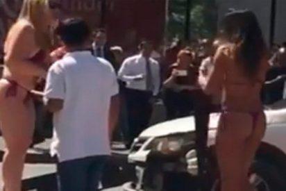 [VÍDEO] El mirón que chocó su coche por ver a modelos en bikini