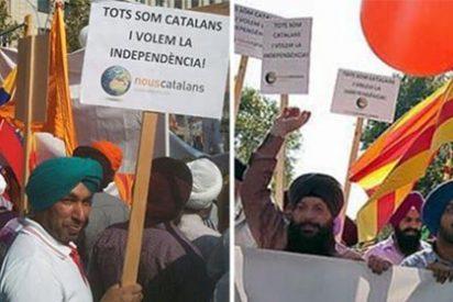 ¡Frótese los ojos!: los musulmanes de 'profundo sentimiento catalán' que salieron en la Diada