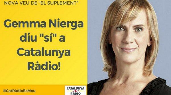 Catalunya Ràdio utiliza a Gemma Nierga como cartel del separatismo