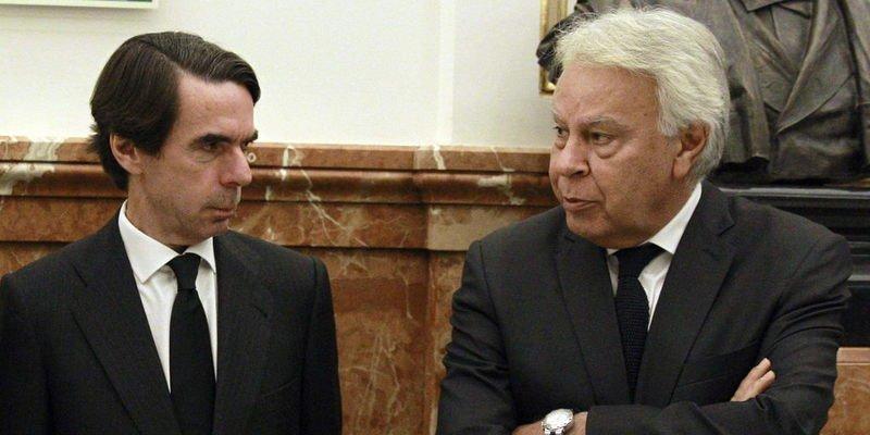 Se agradecen los consejos de González y Aznar sobre Cataluña pero al Estado lo desguarnecieron ellos
